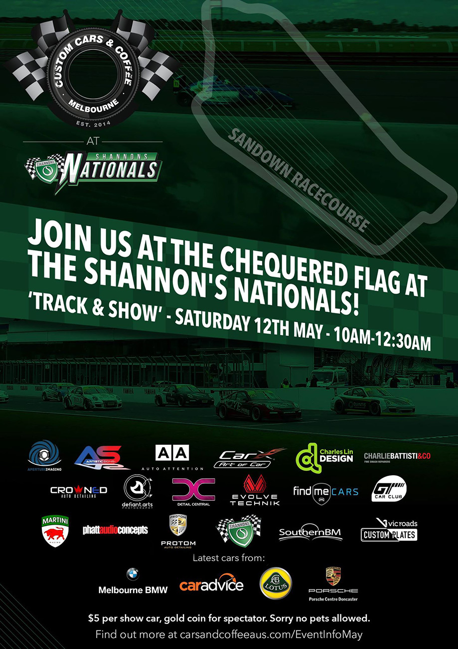 May 12th 2018 CC&C at Shannons Nationals Flyer